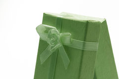 Green gift box Stock Image
