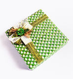 Green Gift Box Stock Image