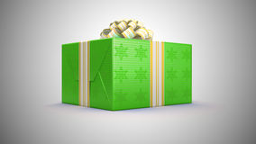 Green gift box for presents Royalty Free Stock Photos