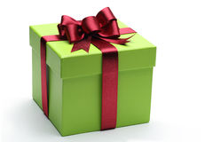Green gift box Stock Photo