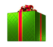 Green Gift Box With Ribbon And Bow. 3D Model Stock Image