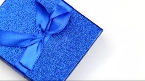 Green gift box stock video