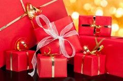 Green Gift Box Stock Photography