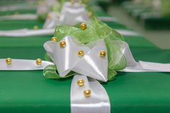 Green gift boxes Royalty Free Stock Image