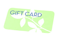Green Gift Card Royalty Free Stock Photo