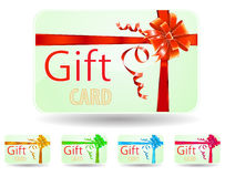 Green gift card Royalty Free Stock Photos