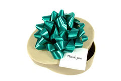 Green Gift For You Royalty Free Stock Photos