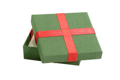 Green gift package Stock Photography