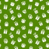 Green Gift Pattern Royalty Free Stock Photos