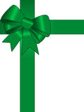 Green gift ribbon Stock Image