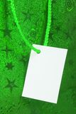 Green gift tag Royalty Free Stock Photography