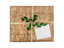 The green gift which is elegantly packed Royalty Free Stock Photo