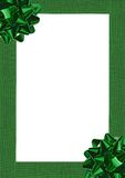 Green Gift wrapping bow Royalty Free Stock Photography