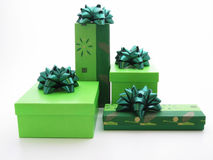 Green gifts. Gifts Royalty Free Stock Photo