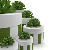 Green gifts Royalty Free Stock Photo