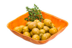 Green gigant olives Royalty Free Stock Photo