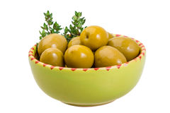 Green gigant olives Stock Photo
