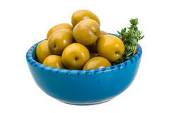 Green gigant olives Stock Image