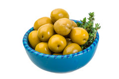 Green gigant olives Royalty Free Stock Image