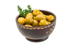Green gigant olives Stock Photography