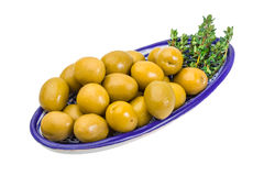 Green gigant olives Stock Photos