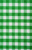 Green Gingham Background Stock Photography