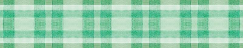 Green Gingham Check. Watercolour Picnic Blanket.