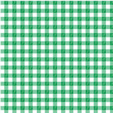 Green gingham. A green gingham design with a leaf motif Stock Photo