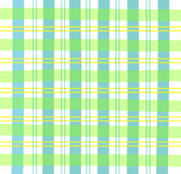 Green Gingham Plaid. Illustration of a green/teal/yellow pastel plaid pattern Royalty Free Stock Image