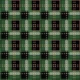 Green Gingham rhombus Buffalo Lumberjack luxury plaid tartan pattern Vector Memphis style vintage Seamless shape fun funny textile. Flanel Texture scottish royalty free illustration