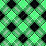 Green Gingham rhombus Buffalo Lumberjack luxury plaid tartan pattern Vector Memphis style vintage Seamless shape fun funny textile. Flanel Texture scottish vector illustration