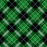 Green Gingham rhombus Buffalo Lumberjack luxury plaid tartan pattern Vector Memphis style vintage Seamless shape fun funny textile. Flanel Texture scottish stock illustration