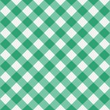 Green Gingham seamless pattern. Vector illustration. Green Gingham seamless pattern. Diagonal stripes. Texture from rhombus for plaid, tablecloths, clothes Royalty Free Stock Photo