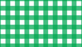 Green gingham seamless pattern. Texture from rhombus/squares for. Plaid, tablecloths, clothes, shirts, dresses, paper, blankets, quilts and other textile vector illustration