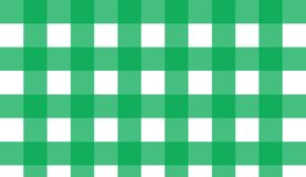Green gingham seamless pattern. Texture from rhombus/squares for. Plaid, tablecloths, clothes, shirts, dresses, paper, blankets, quilts and other textile stock illustration