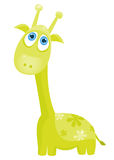 Green giraffe Stock Photo