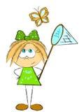 Green girl Royalty Free Stock Photo
