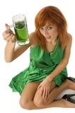 Green girl Royalty Free Stock Photos