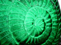 Green glass. With light shineing throu. shell like texture Stock Image