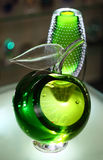 Green glass apple. Stock Photography