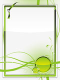 Green glass background Stock Photos