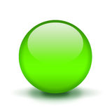 Green glass ball Royalty Free Stock Images