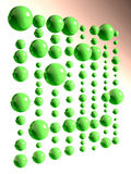 Green glass balls Stock Images