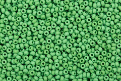 Green glass beads. Close up of green glass beads. High resolution photo Stock Photography