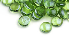 Green glass beads Royalty Free Stock Photo
