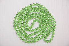 Green glass beads Royalty Free Stock Image