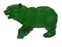 Green glass bear illustration Stock Image
