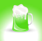 Green Glass of Beer Stock Image