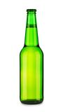 Green glass beer bottle Stock Images