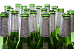 Green Glass Beer Bottles Royalty Free Stock Images